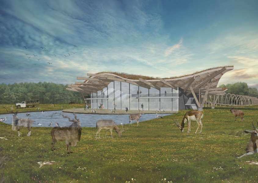 An illustration of how Watlington Safari Park could look. Photo courtesy of Rural Solutions Ltd.