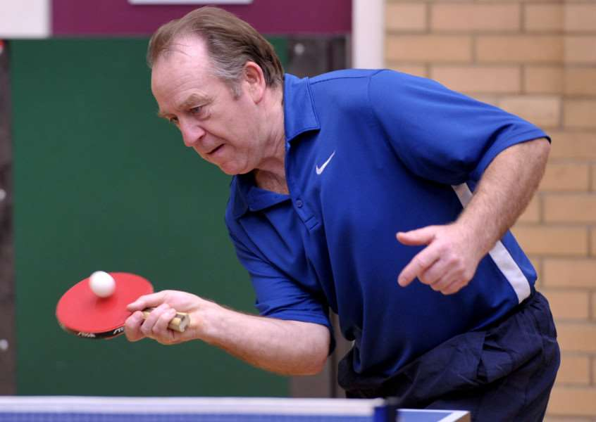 Kings Lynn table tennis championships'Alan Nicholls