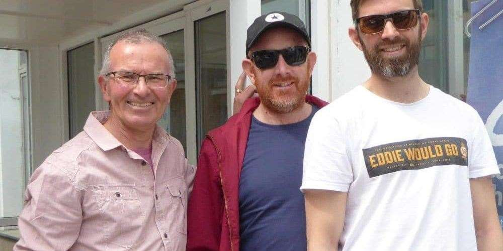 Stewart South with his sons Joel and Oliver. Picture: Stewart South(42656773
