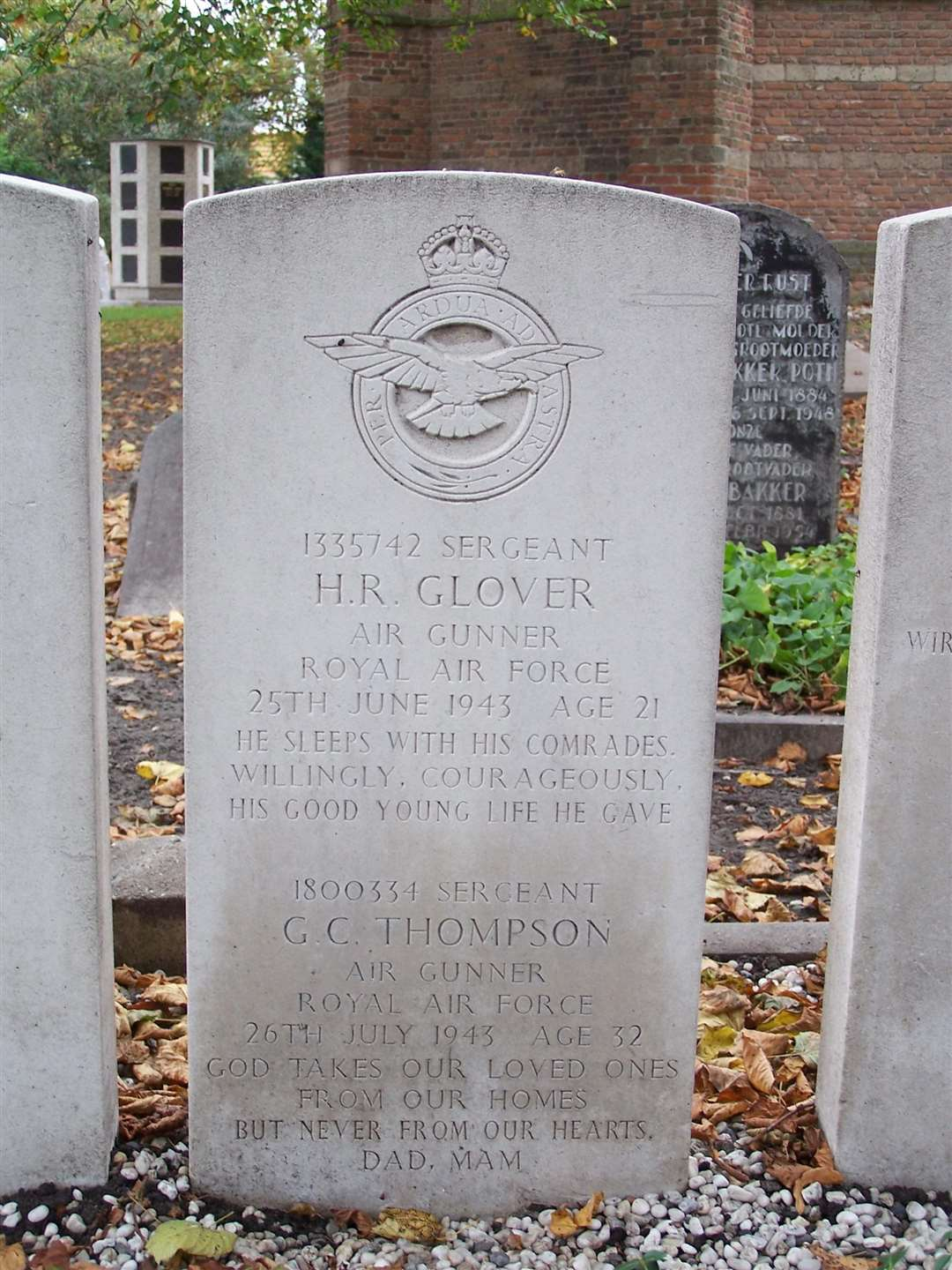Tombstone of Henry Glover. Photo: SUBMITTED. (4130275)