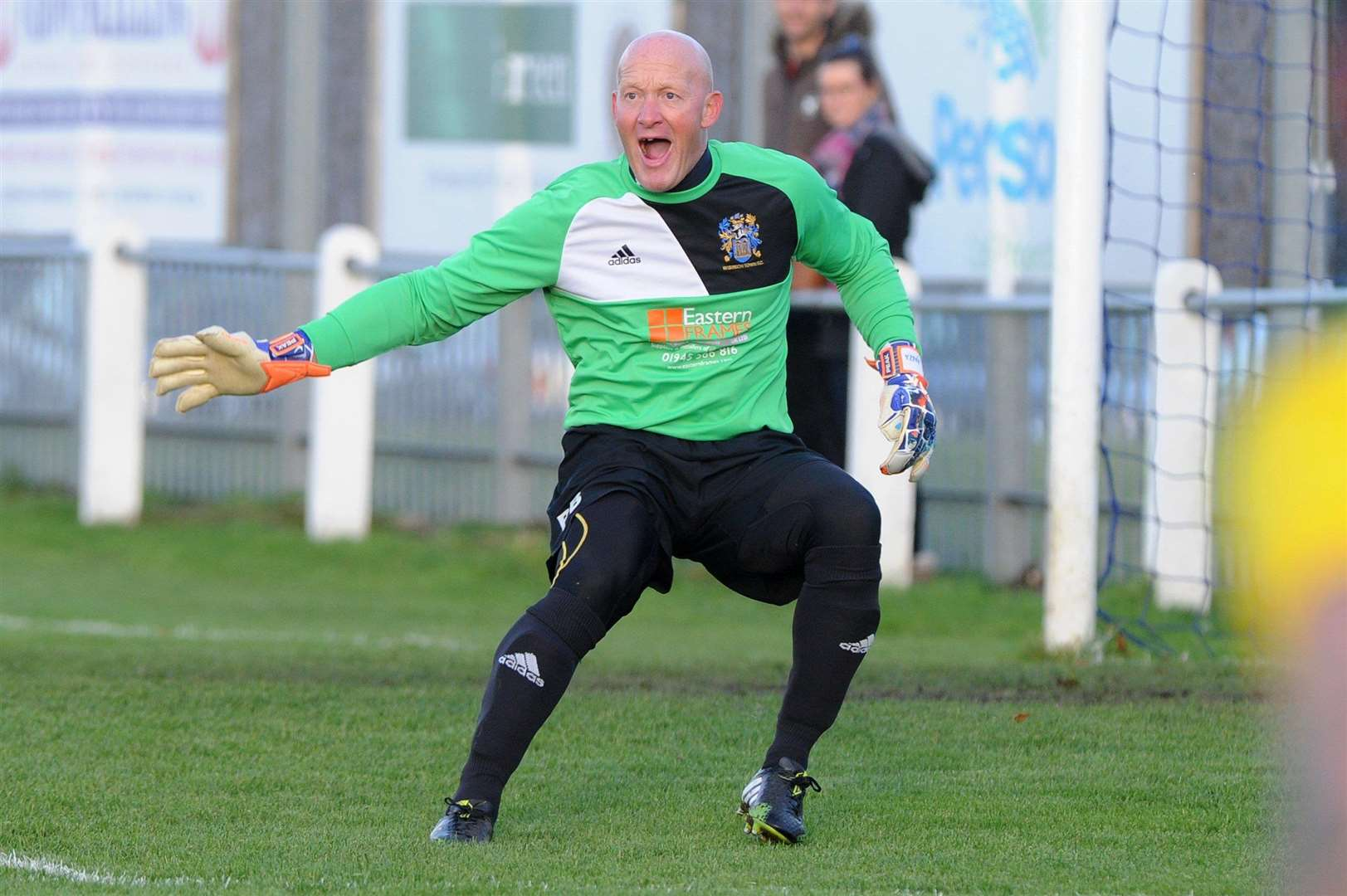 Goalkeeper Paul Bastock in action for Wisbech Town when he overtook Peter Shilton's record for 1,249 competitive club appearances against Thetford Town ....PICTURE: Mecha Morton.