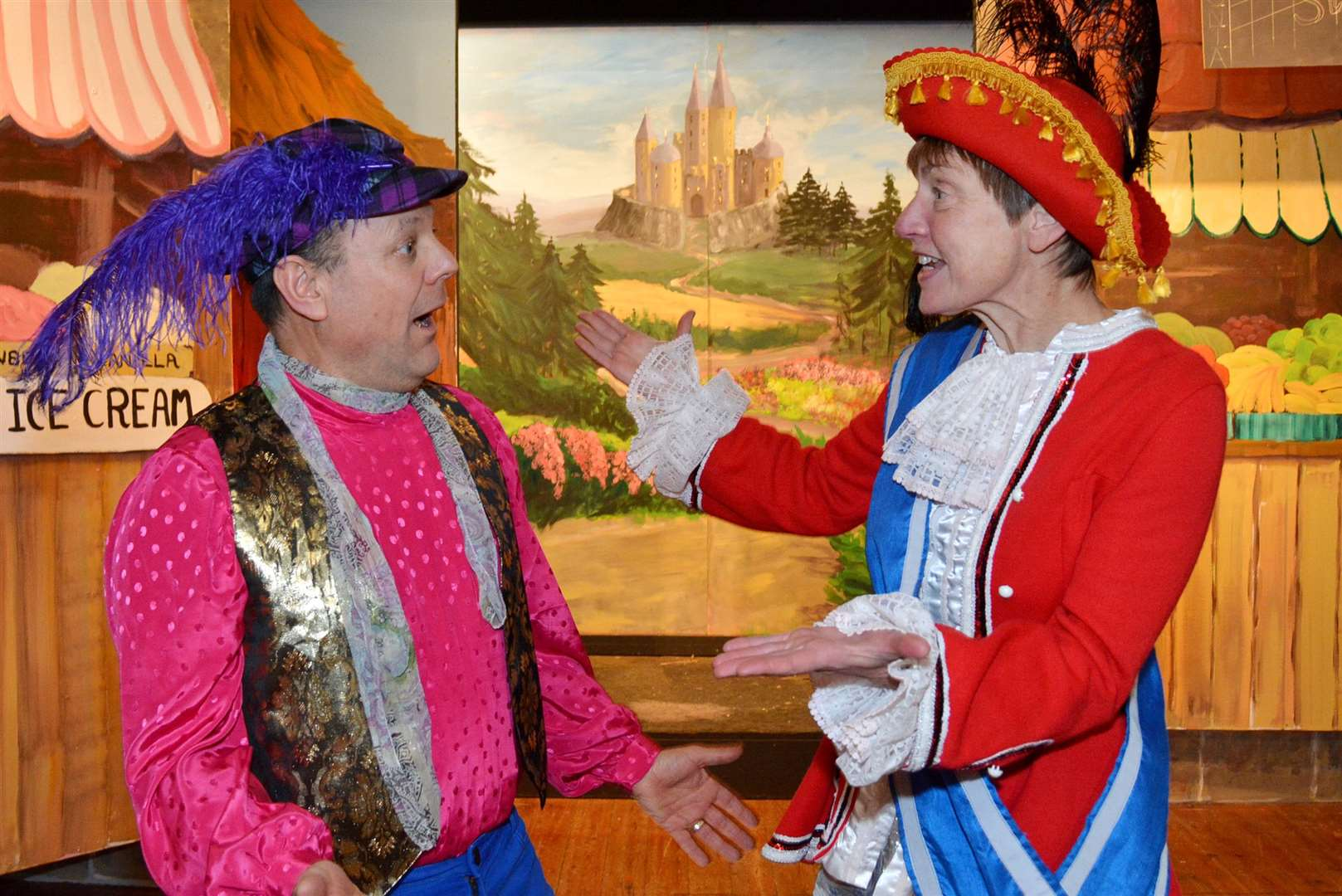 Dandini (Robert Kilbourn) and Prince Charming (Evette Price (Nccd0026) (6533083)