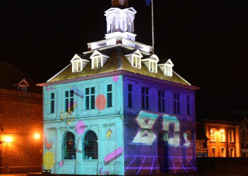 Collusion projections in Kings Lynn ''Moment by FishGills (The Custom House)