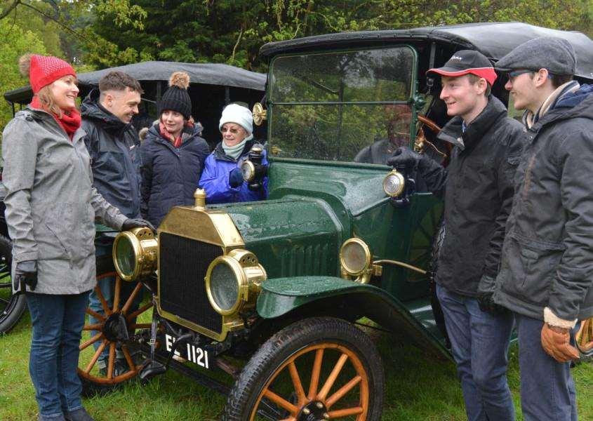 Model T Ford car fans at Sandringham