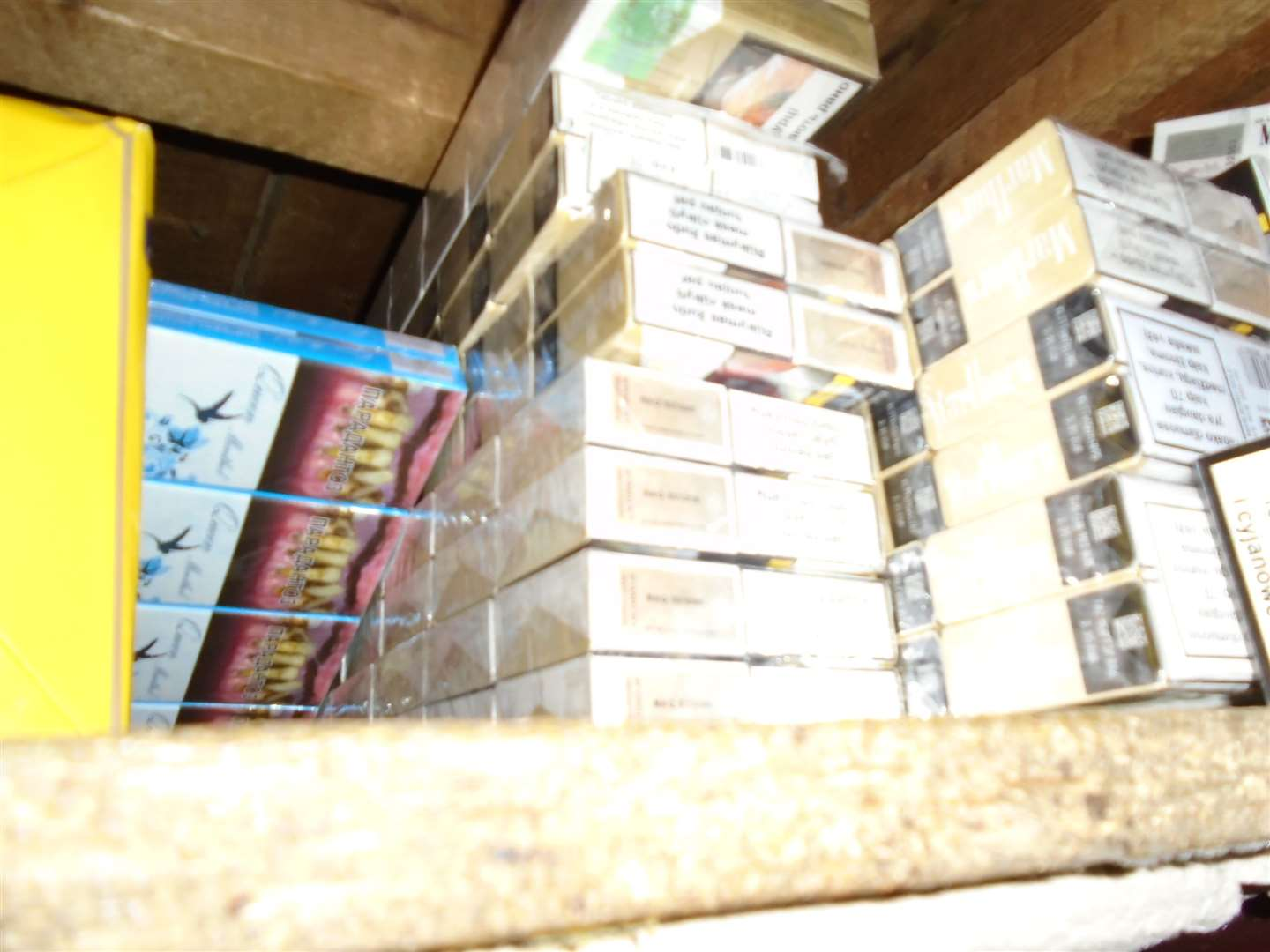 Police officers and Trading Standards officials seized 17,000 illegal cigarettes and 2.25kg of illegal hand rolling tobacco from a shop in King's Lynn. Picture: SUBMITTED. (14561130)