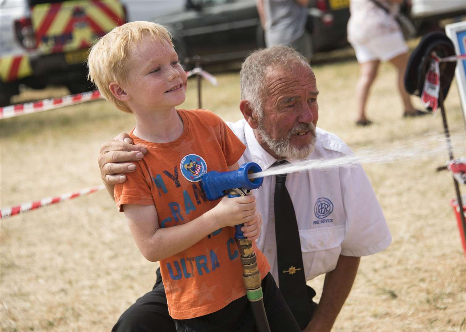 Weeting Steam Engine Rally and Country Show Robbie Carman with Chris Bonnick National Fire Museum Picture Mark Westley. (3196202)