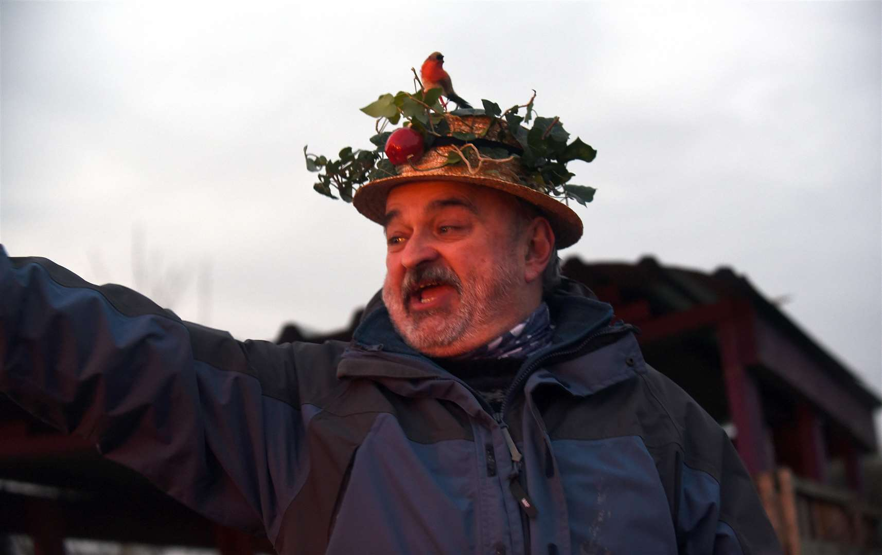 Adrian Tebbutt, the master of ceremonies for Swaffham's Wassail