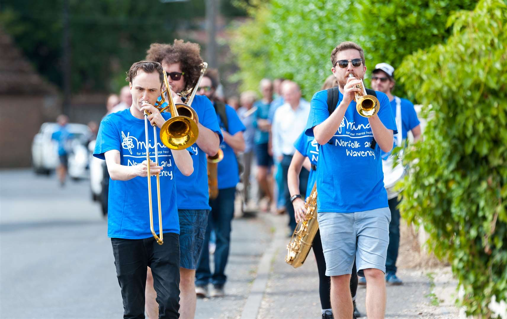 East Angles Brass band played on the streets of Docking on Saturday afternoon. Pictures: Ian Burt