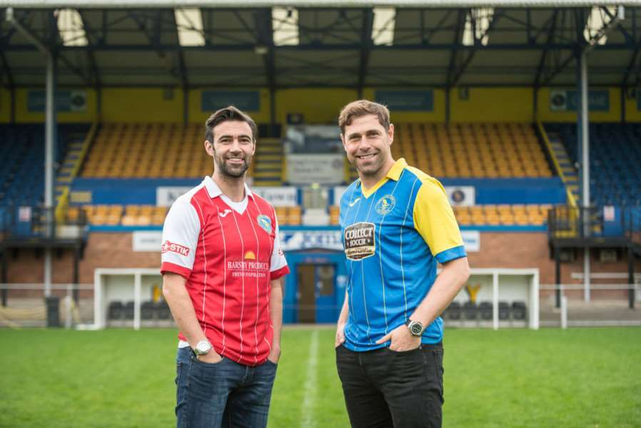 New King's Lynn town signings Norwich City legends Simon Lappin (left) and Grant Holt.