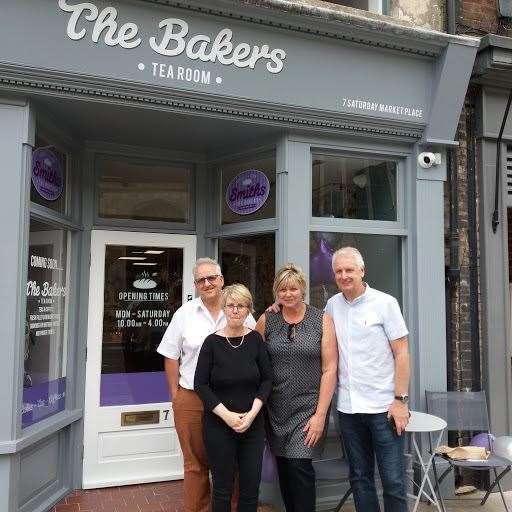 Pictured outside the new tea room are Paul Brandon, left, his wife Teresa, second left, and Suzy and Keith Harrington (15606894)
