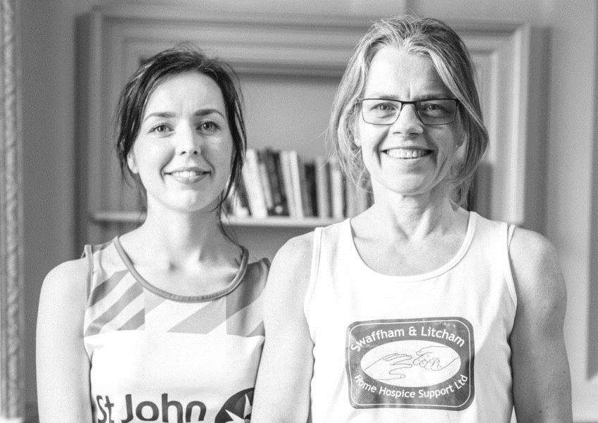 Beth Marriott and Beverley Foulkes are training to run the London Marathon for St John Ambulance and the Swaffham and Litcham Home Hospice respectively