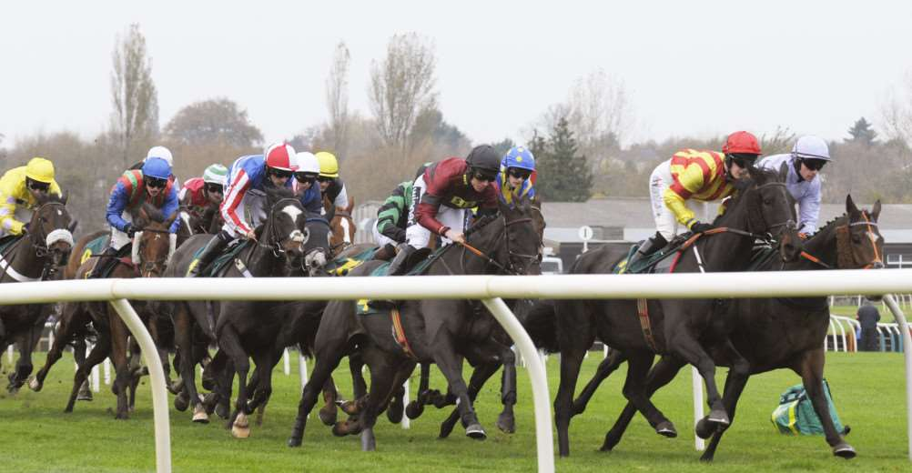 Greene King Raceday at Fakenham Racecourse'Action from the 1.40pm Race The Greene King IPA Handicap Hurdle