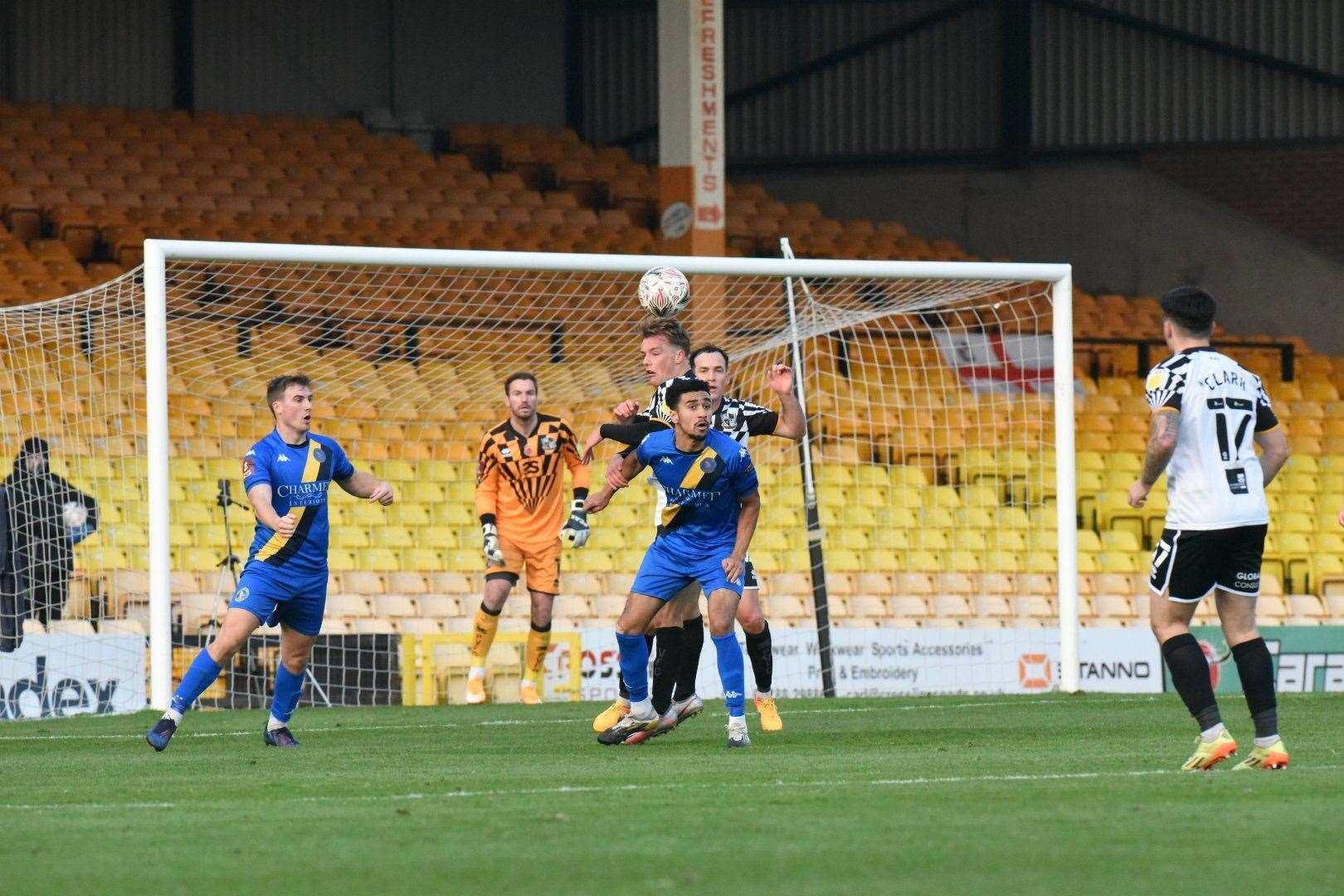 Match action from Vale Park. Picture: Tim Smith. (43028485)