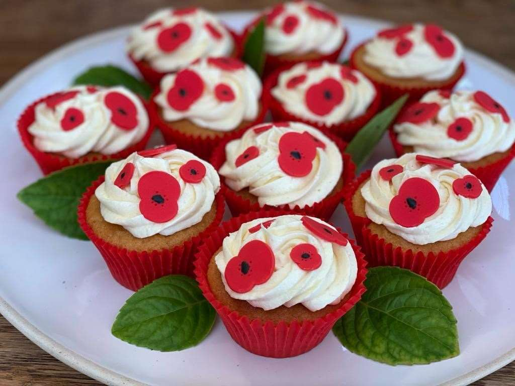 These cakes were delivered to Halsey House in Cromer on Sunday. Picture: Royal British Legion(42871923)