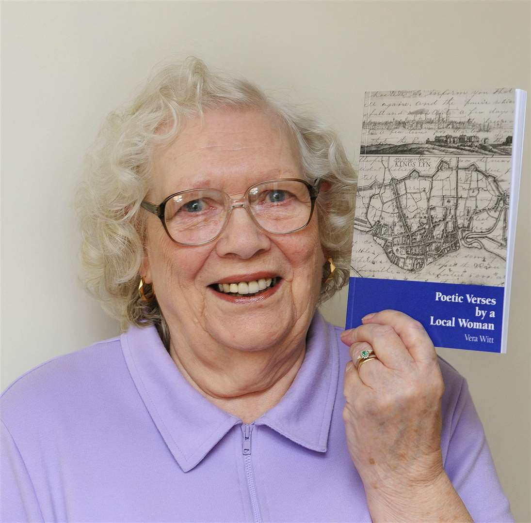 Local Author Vera Witt, with her book of poems. (6187026)