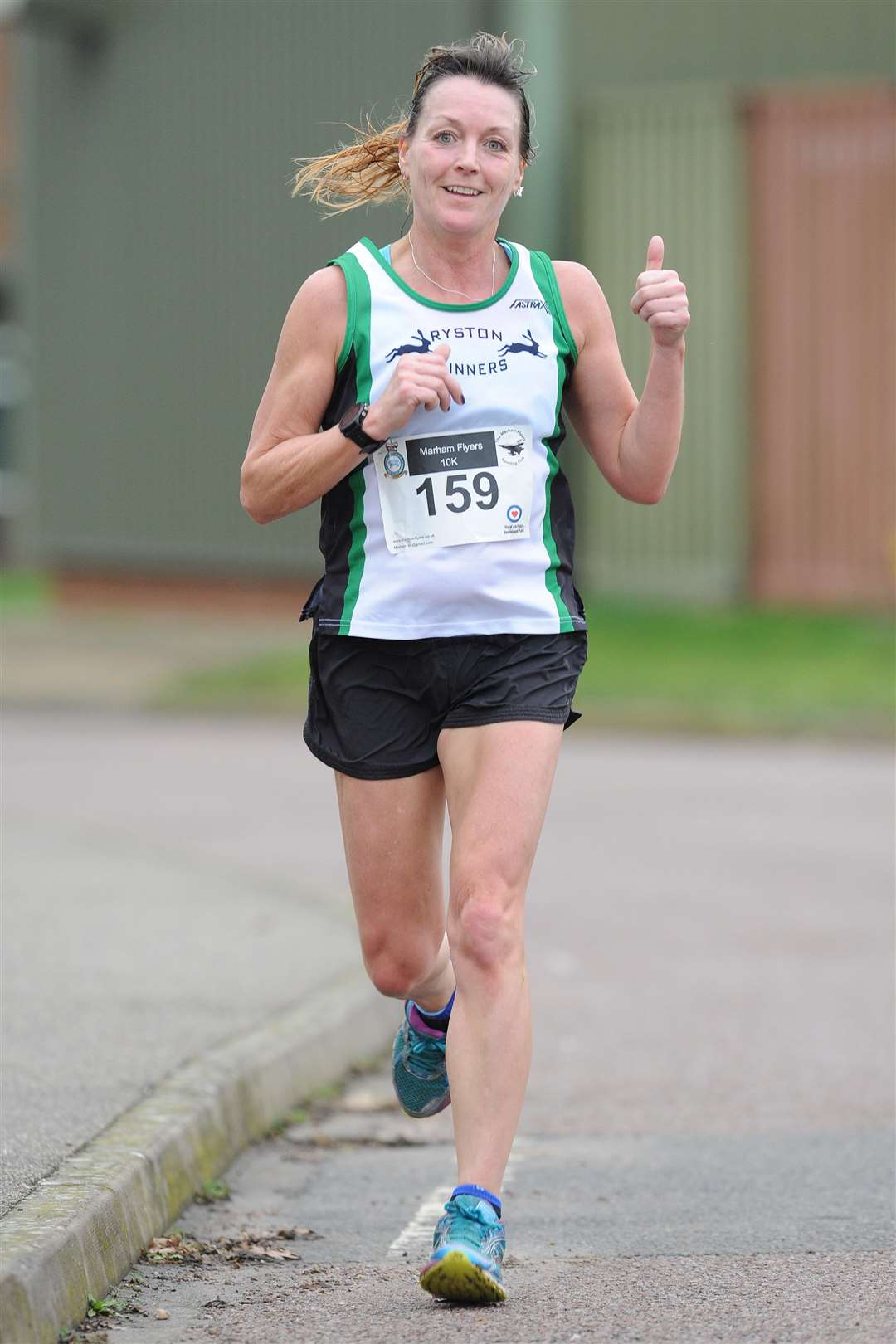 Lesley Robins in action at the Marham Flyers New Year's Eve 10k race. Picture: TIM SMITH