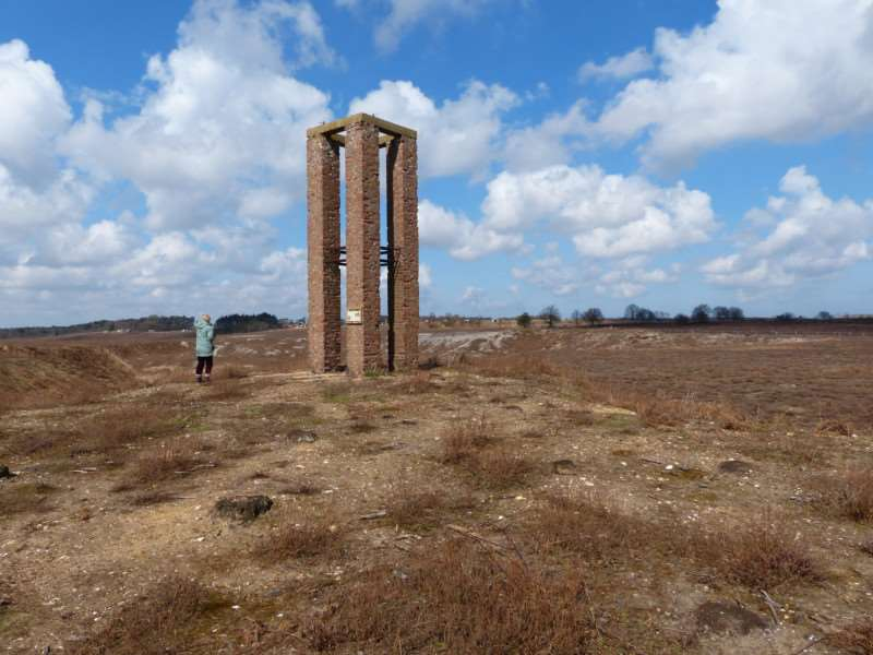 "Observation tower in Grimston Warren, as pictured in Aviation Landmarks Norfolk and Suffolk by Peter B. Gunn. Mr Gunn said: ""This was one of two towers which served an artillery and bombing range during World War Two. Nearby there was also a searchlight battery."""