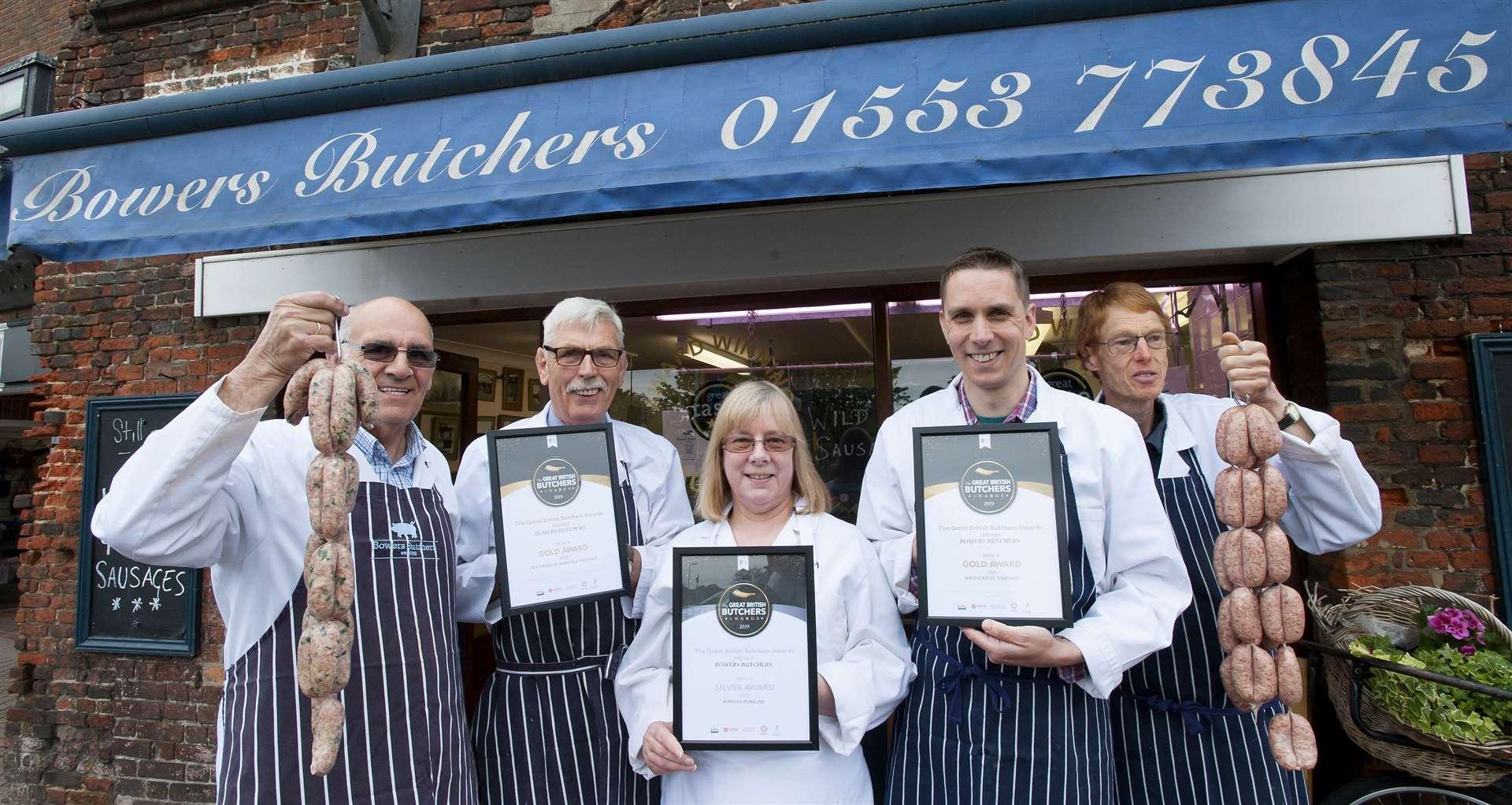 Gaywood butchers' sausages take gold in Great British awards