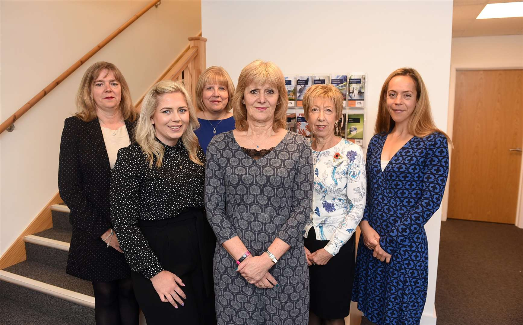 Pictured, from left, at Hayes and Storrs Swaffham office are Mel Robson, Denise Small, Susan Matthews, Maisie Silverman, Diane Raven and Lesley Burnell. MLNF-18AF11012