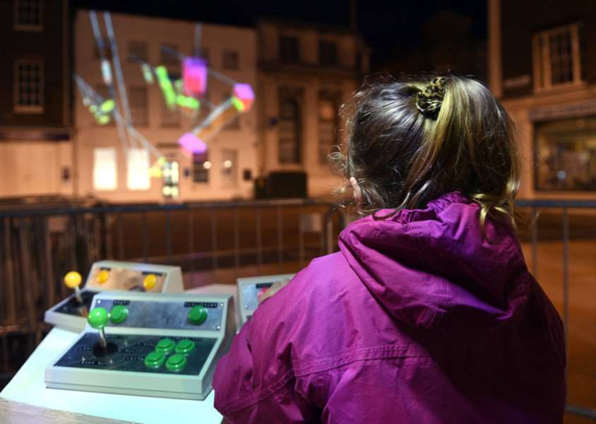 Collusion projections in Kings Lynn ''Assemble by Payne Hurt (Tuesday Market Place)''Jessica Scott