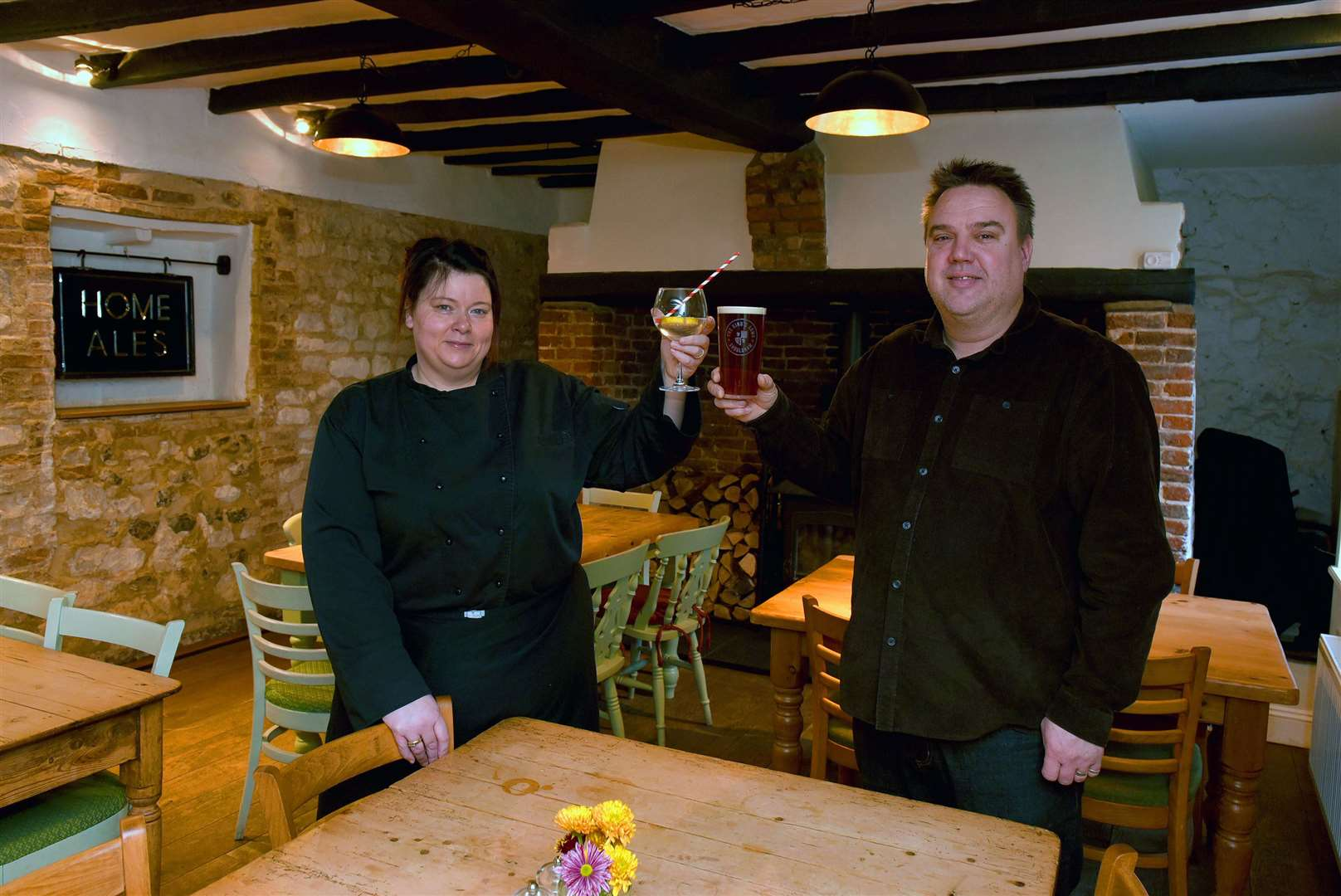 The Kings Arms, Shouldham, which was named regional winner in the final of the inaugural Parliamentary Pub of the Year competition. Pictured are Jo Freeman (Head Chef) and Ian Skinner (licensee)