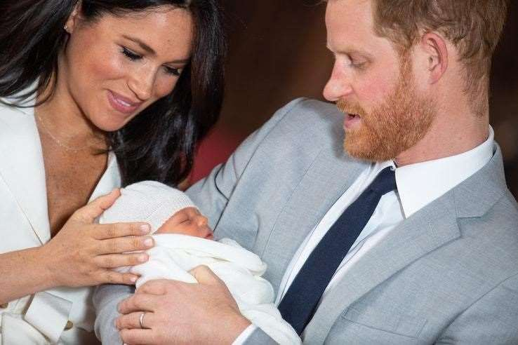 Baby Archie with Meghan and Harry (10030655)