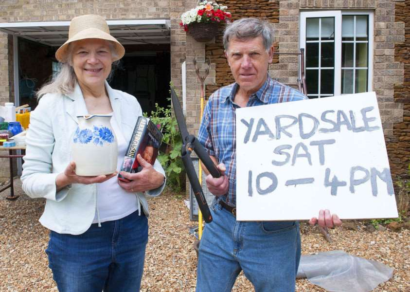 Yard Sale IAO East Winch parish church. pictured Nell Steele. David Wright.