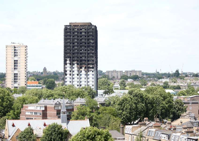 "Fire damaged Grenfell Tower, London, June 16 2017. See National News story NNTOWER: Violence could erupt on the streets of London if the authorities don't take control of the Grenfell disaster aftermath, warned a local councillor. She said local people are ""angry"" in the wake of the catastrophic blaze and there will be ""unrest in the streets"" if council chiefs don't step in. Eartha Pond said donations and aid to victims of the Grenfell tower fire have been mainly community led. And she warned that if the local authority doesn't act quickly, civil unrest could erupt."