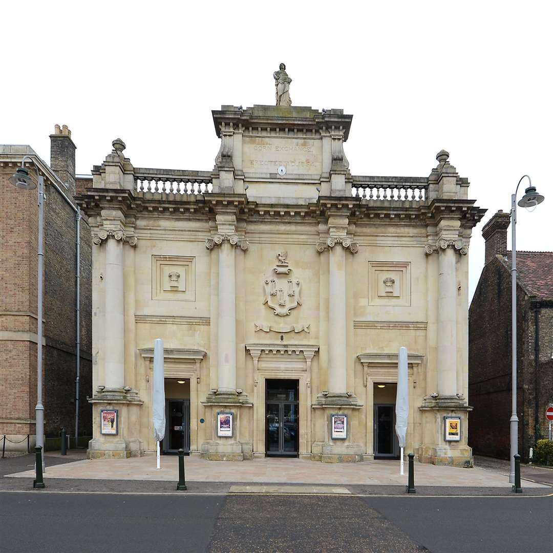 The King's Lynn Corn Exchange on the Tuesday Market Place where schools are performing tonight