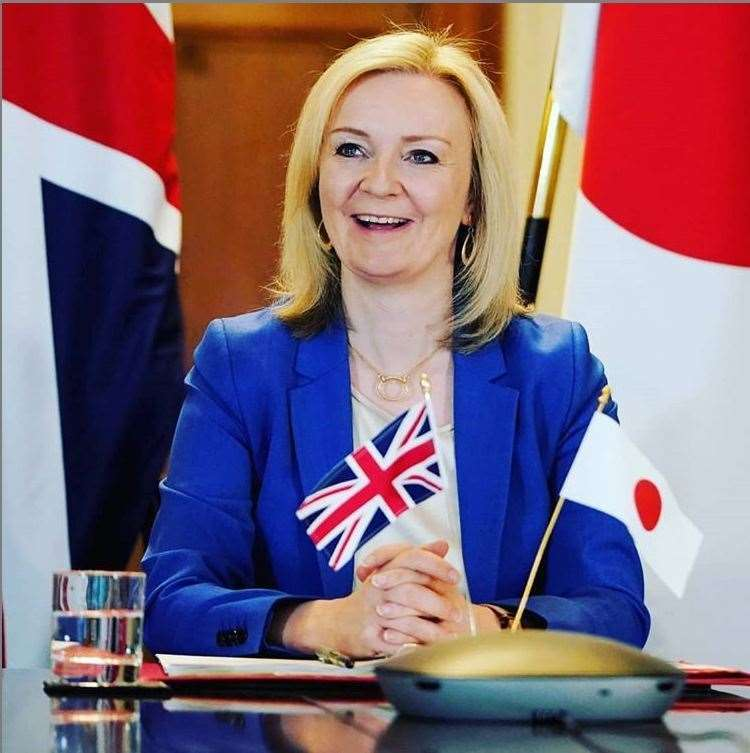 Liz Truss MP has agreed in principle the free trade deal with Japan (42217322)