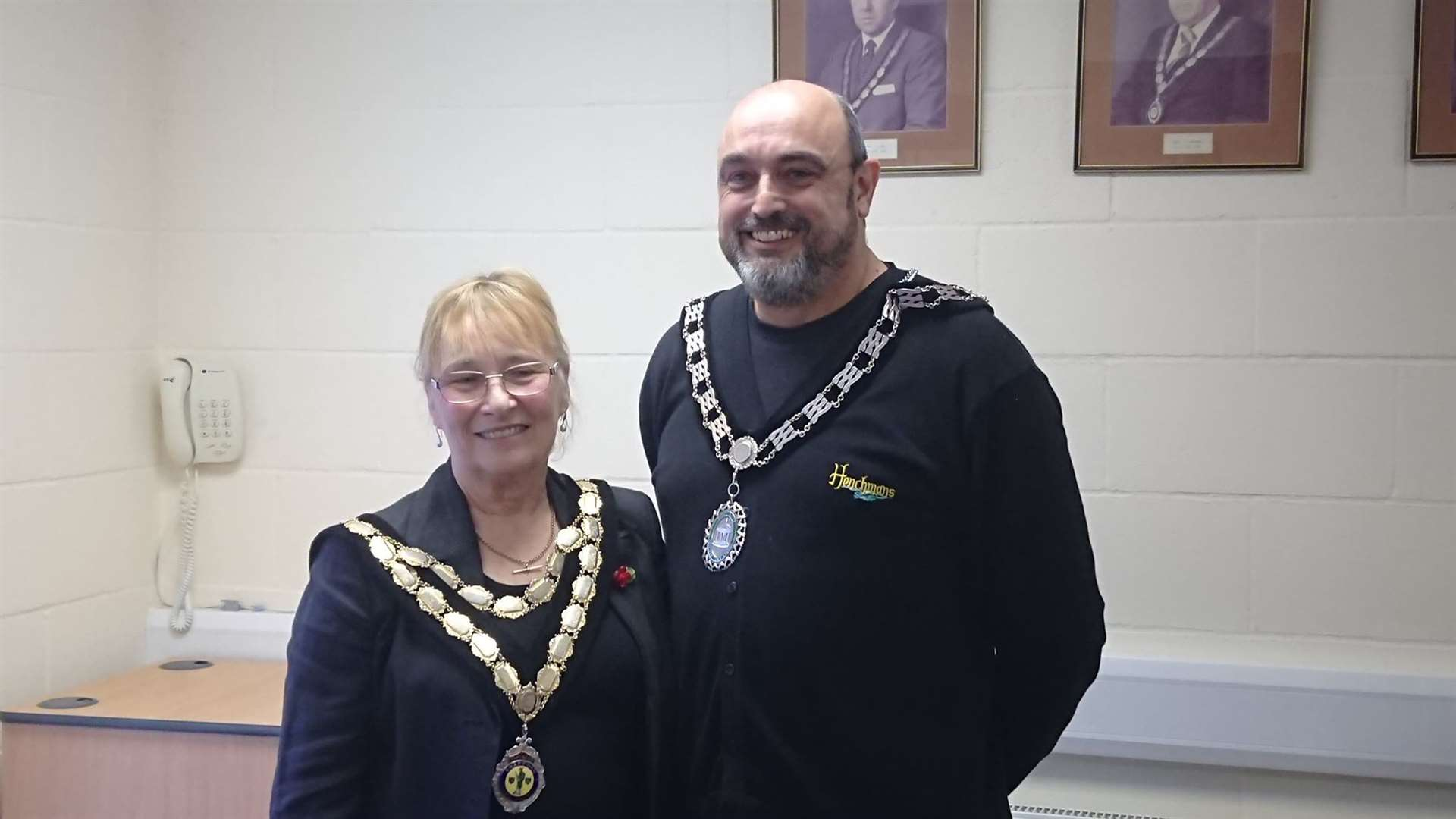 Swaffham mayor Jill Skinner and deputy mayor Keith Sandle