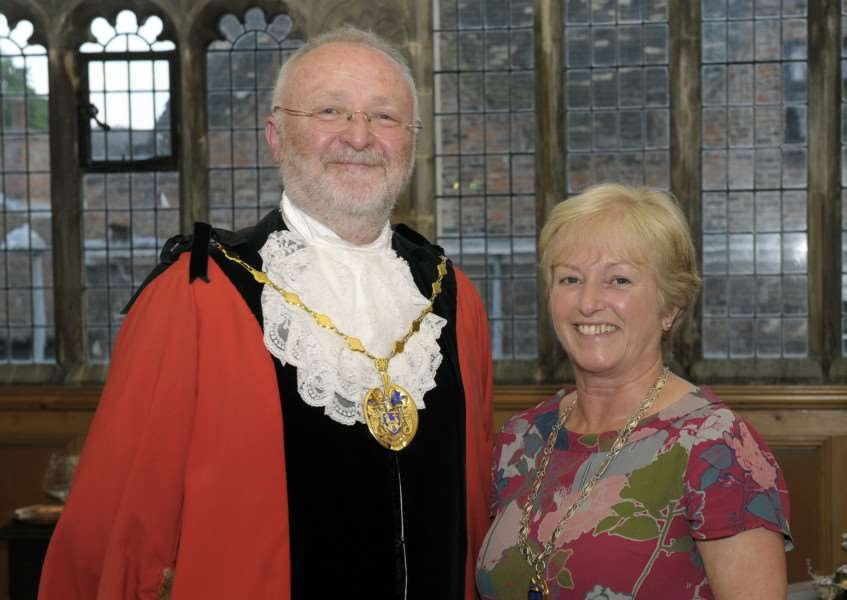 Annual Ceremony of Mayormaking for King's Lynn and West Norfolk Borough Council at the Town Hall.'Deputy Mayor Jim Moriarty with his wife Liz
