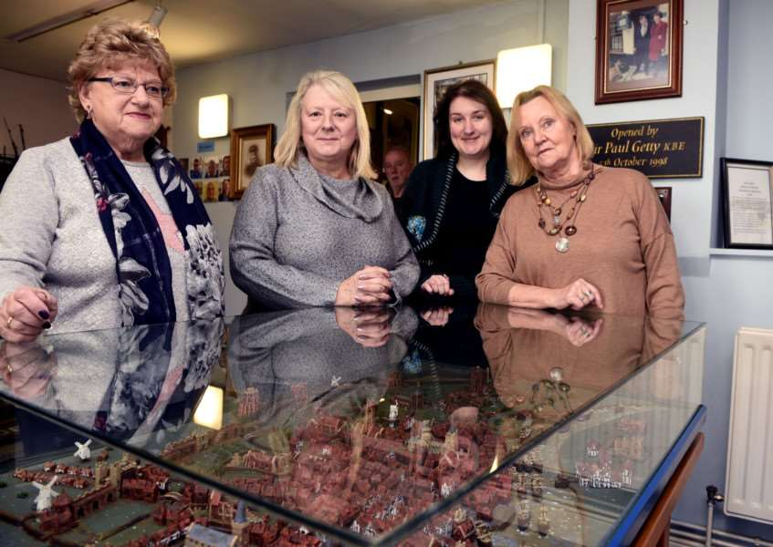 Over 60s open day, Trues Yard Museum'left to right Pam Goodwin, Kate Jackman, Lindsey Bavin and Maureen Fowler