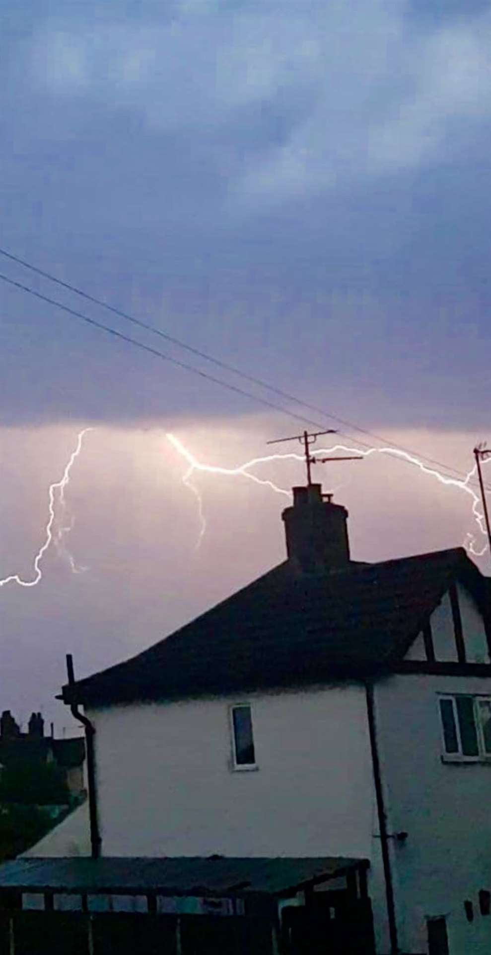 Sally Thrower captures the lightning in the early hours of the morning (14243438)