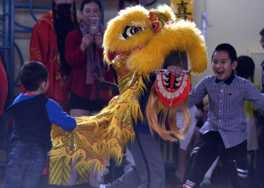 Chinese New Year celebration at Gaywood Primary School