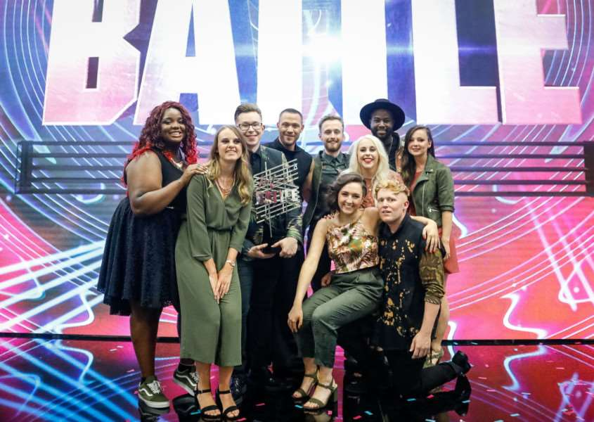 Programme Name: Pitch Battle - TX: 22/07/2017 - Episode: Pitch Battle - Final (No. n/a) - Picture Shows: Pitch Battle Champions Leeds Contemporary Singers - (C) Tuesday's Child - Photographer: Guy Levy