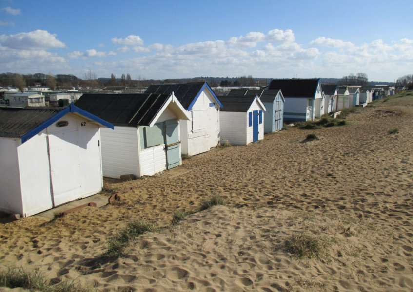 Some of the beach huts in Heacham which could now become the subject of a legal battle
