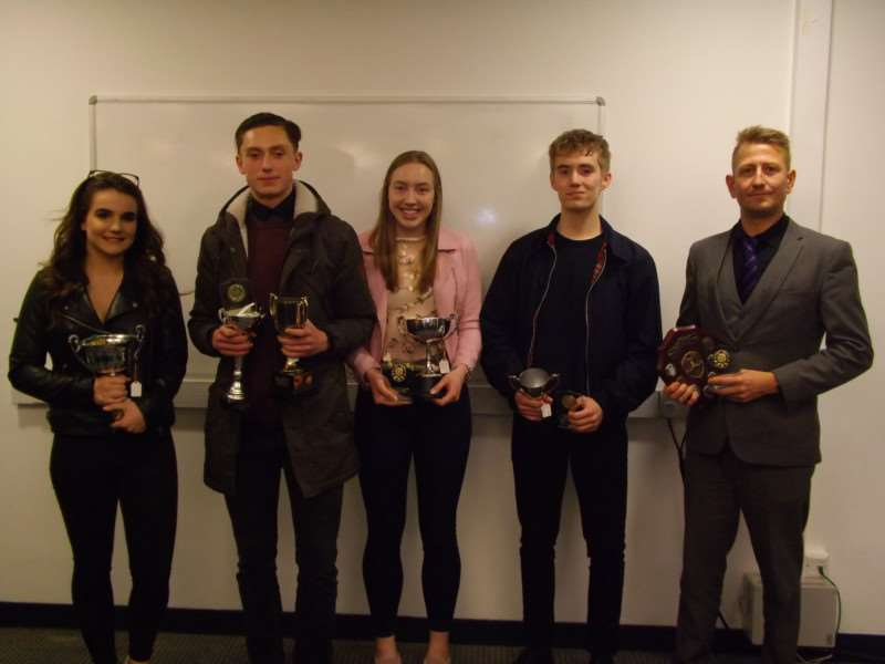 Left to right - Lucy Koenigsberger, Alfie Williams, Hannah Brown, James Greenhalgh, David Hardingham