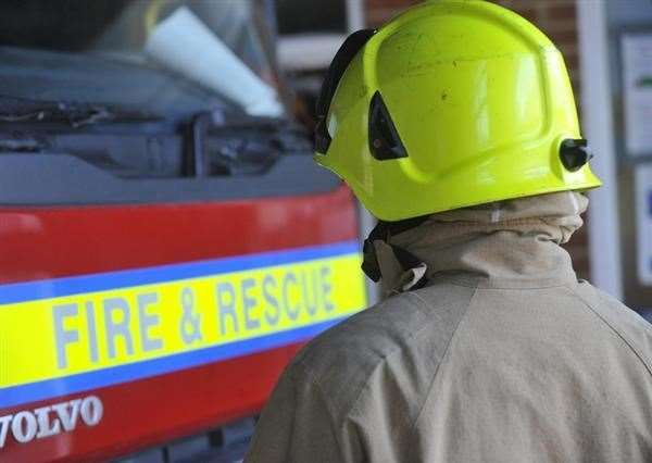 Crews were called to Tilney St Lawrence at 5.25pm on Tuesday