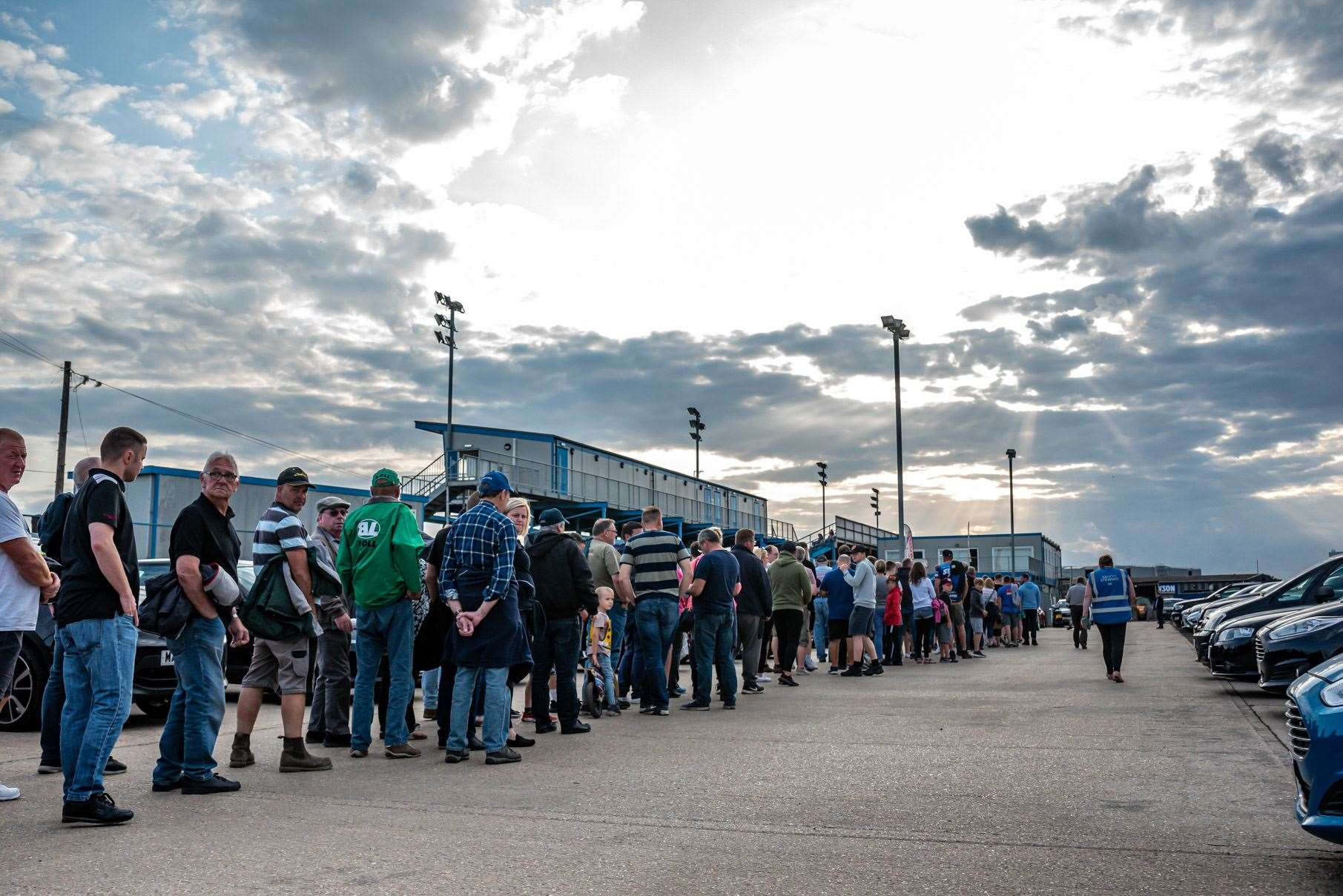There was a huge queue at the Adrian Flux Arena when the King's Lynn Stars hosted Ipswich Witches in a recent home meeting.