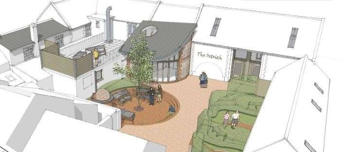 How The Ostrich Inn is proposed to look (42290705)