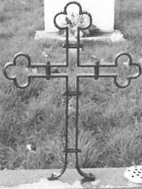 One of the stolen crosses