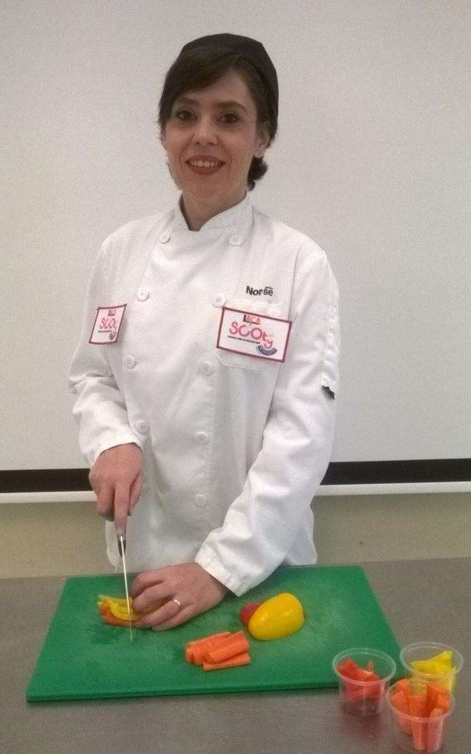 Annalisa Grief, West Winch Primary School chef, who is in the regional finals of the LACA School Chef of the Year 2019. Picture: SUBMITTED. (5466675)