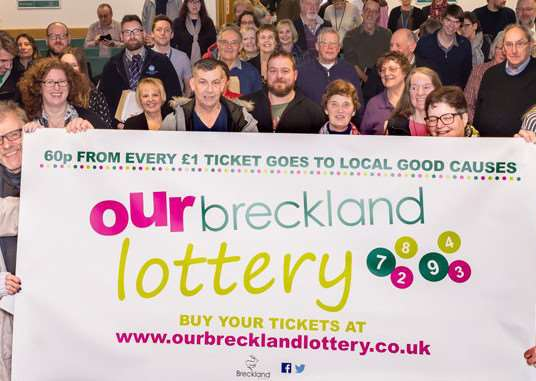 The inaugural Our Breckland lottery draw is made tomorrow
