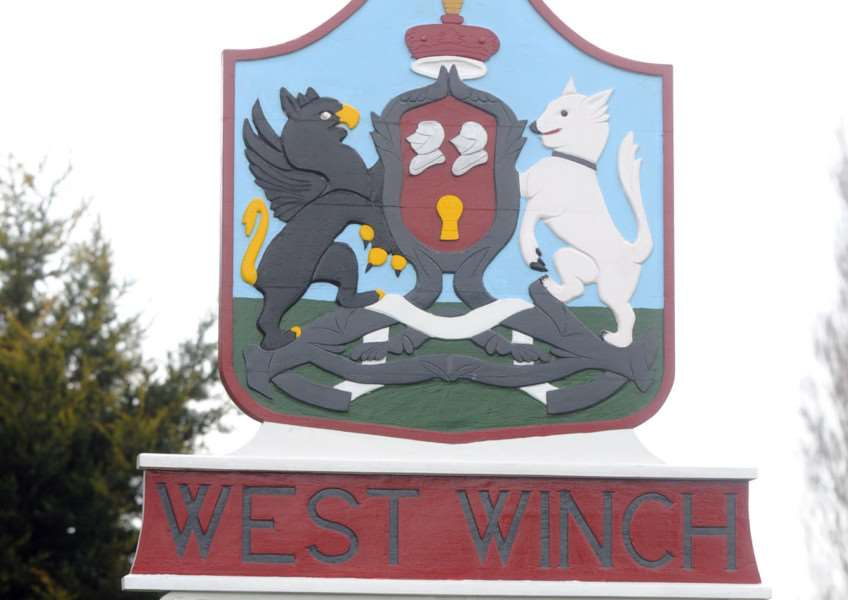 West Winch village sign
