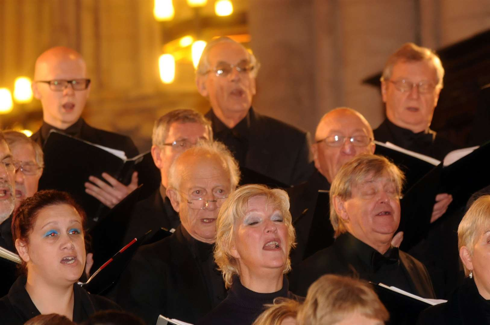 Kings Lynn Festival Chorus in rehearsals ahead of Saturday's night concert. (25286522)