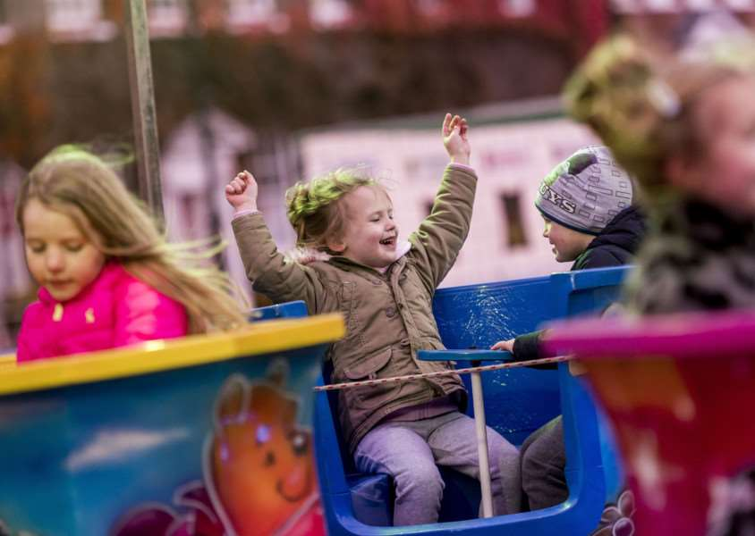"Scenes from the King�""s Lynn Chirstman Lights Switch On 2017 - Children enjoying the rides."