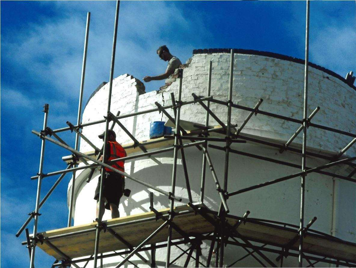 Work being done to repair the Old Lighthouse at Old Hunstanton. Photo: Jamie Murfitt. (3505834)