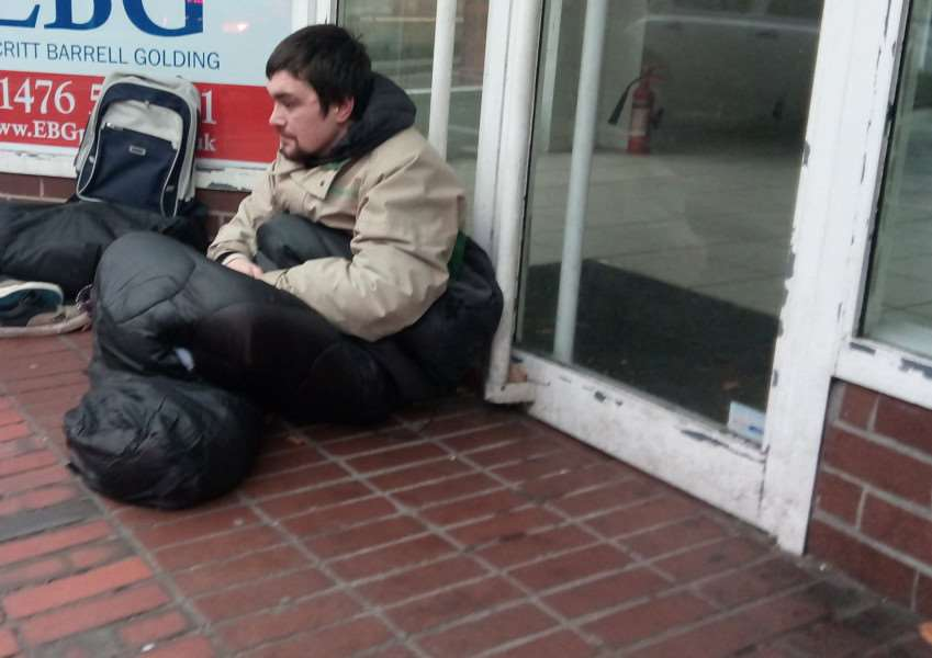 Homeless person.