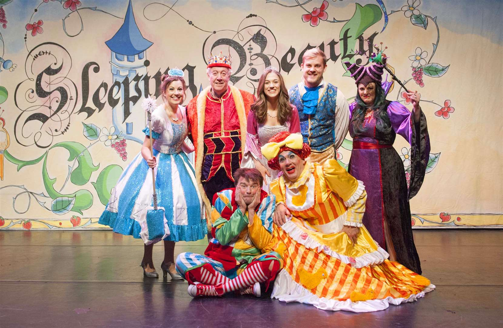 King's Lynn Corn Exchange Presents Sleeping Beauty. Pictured The Principal Characters. (5918337)